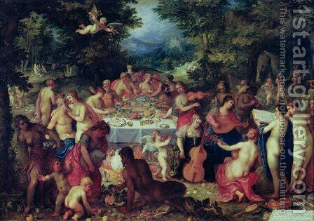 The Banquet of the Gods by Hendrik van Balen, I - Reproduction Oil Painting