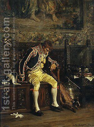 A Footman Sleeping 1871 by Charles Bargue - Reproduction Oil Painting