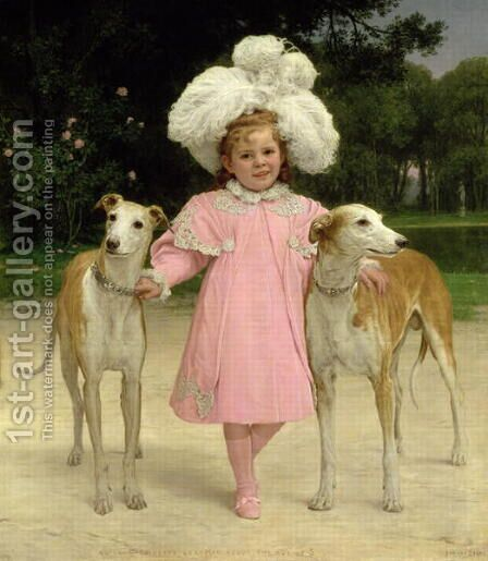 Alice Antoinette de la Mar aged five by Istvan Pekary - Reproduction Oil Painting