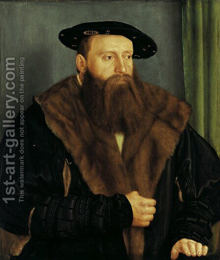 Portrait of Duke Ludwig X of Bavaria 1531 by Barthel Beham - Reproduction Oil Painting