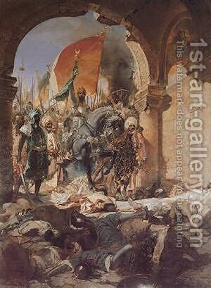 The Entry of Mahomet II into Constantinople by Constant Benjamin Jean Joseph - Reproduction Oil Painting