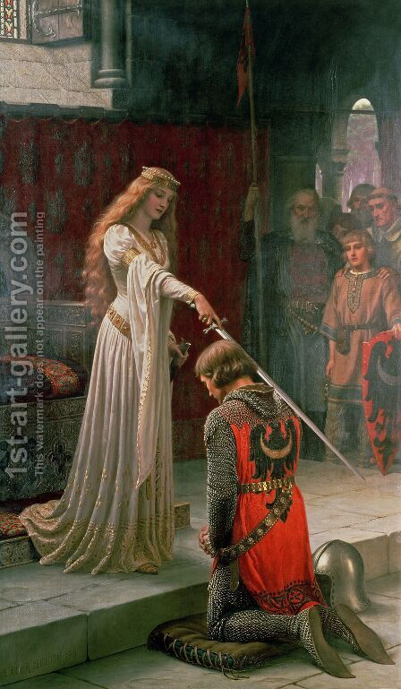 The Accolade 1901 by Blair-leighton Edmund - Reproduction Oil Painting