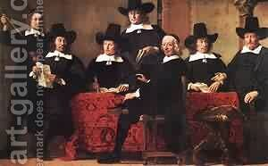 Governors Of The Wine Merchants Guild by Hans Bol - Reproduction Oil Painting