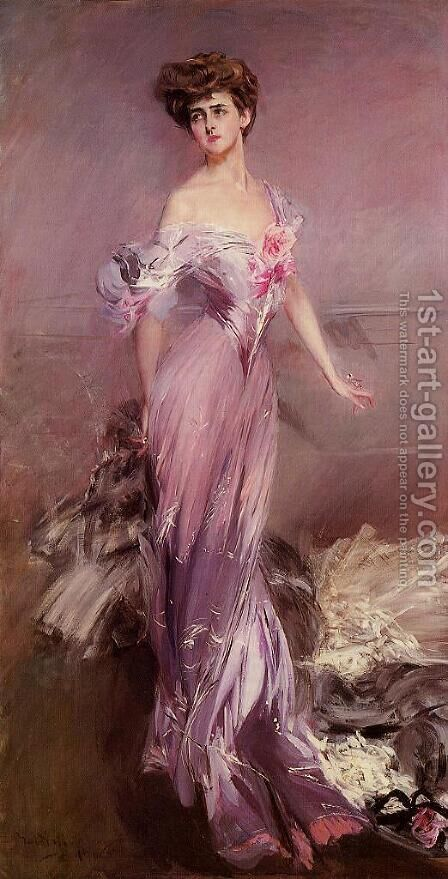 Portrait of Mrs. Howard-Johnston (Dolly Baird of Bunbarton) 1906 by Giovanni Boldini - Reproduction Oil Painting