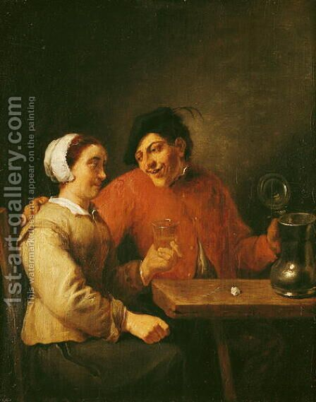 Drinkers by Adriaen Brouwer - Reproduction Oil Painting