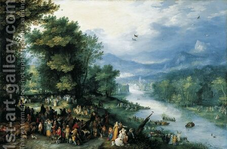 Landscape with Young Tobias 1598 by Jan The Elder Brueghel - Reproduction Oil Painting