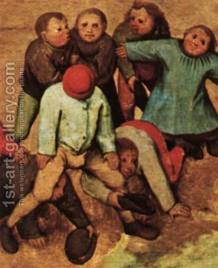 Children's Games (detail) 1559-60 7 by Jan The Elder Brueghel - Reproduction Oil Painting