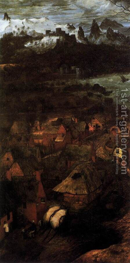 Gloomy Day (detail) 1565 by Jan The Elder Brueghel - Reproduction Oil Painting