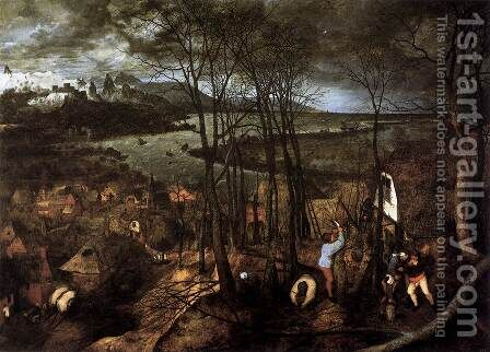 Gloomy Day (February) 1565 by Jan The Elder Brueghel - Reproduction Oil Painting