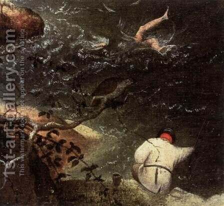 Landscape with the Fall of Icarus (detail) 1555 2 by Jan The Elder Brueghel - Reproduction Oil Painting