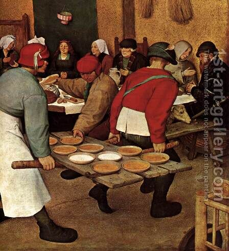 Peasant Wedding (detail) 1567 4 by Jan The Elder Brueghel - Reproduction Oil Painting