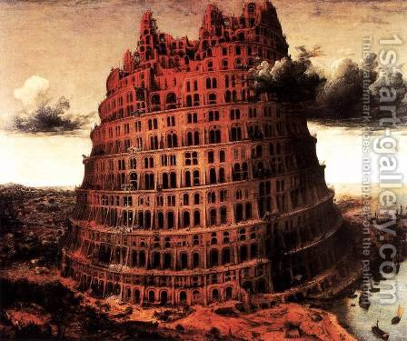 The 'Little' Tower of Babel 1564 by Jan The Elder Brueghel - Reproduction Oil Painting