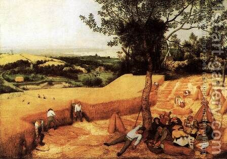 The Corn Harvest (August) 1565 by Jan The Elder Brueghel - Reproduction Oil Painting