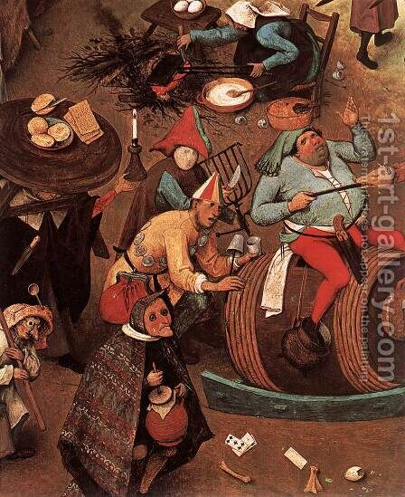 The Fight between Carnival and Lent (detail) 1559 by Jan The Elder Brueghel - Reproduction Oil Painting