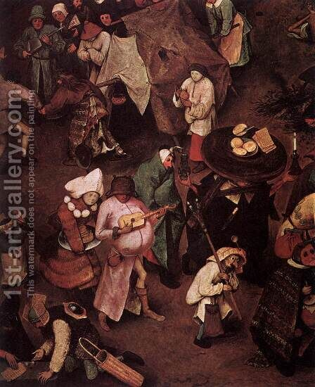 The Fight between Carnival and Lent (detail) 1559 3 by Jan The Elder Brueghel - Reproduction Oil Painting
