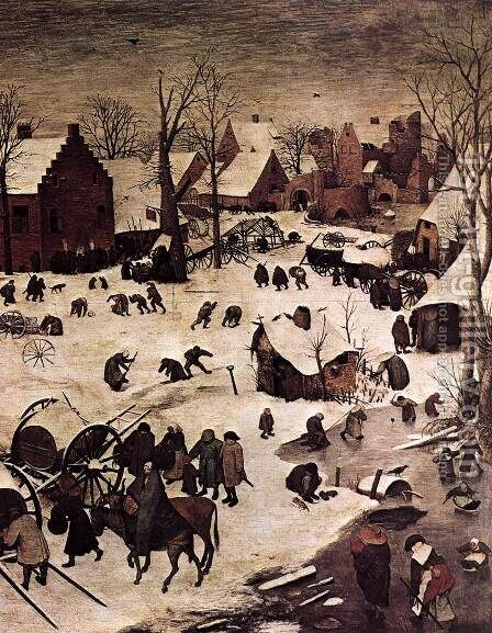 The Numbering at Bethlehem (detail) 1566 by Jan The Elder Brueghel - Reproduction Oil Painting