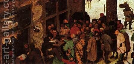 The Numbering at Bethlehem (detail) 1566 7 by Jan The Elder Brueghel - Reproduction Oil Painting