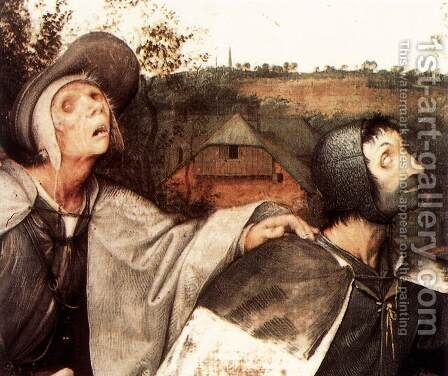 The Parable of the Blind Leading the Blind (detail) 1568 by Jan The Elder Brueghel - Reproduction Oil Painting