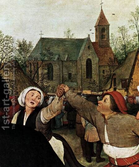 The Peasant Dance (detail) 1567 by Jan The Elder Brueghel - Reproduction Oil Painting