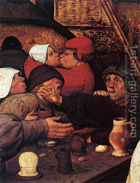 The Peasant Dance (detail) 1567 3 by Jan The Elder Brueghel - Reproduction Oil Painting