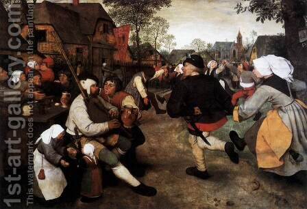 The Peasant Dance 1567 by Jan The Elder Brueghel - Reproduction Oil Painting