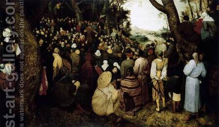 The Sermon of St John the Baptist 1566 by Jan The Elder Brueghel - Reproduction Oil Painting