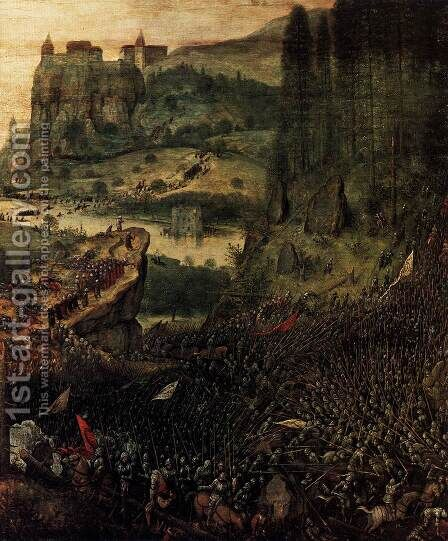 The Suicide of Saul (detail) 1562 by Jan The Elder Brueghel - Reproduction Oil Painting