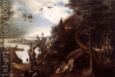 The Temptation of St Anthony 1557 by Jan The Elder Brueghel - Reproduction Oil Painting