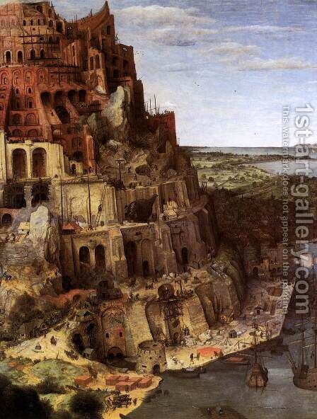 The Tower of Babel (detail) 1563 2 by Jan The Elder Brueghel - Reproduction Oil Painting