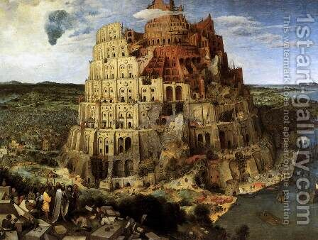 The Tower of Babel 1563 by Jan The Elder Brueghel - Reproduction Oil Painting