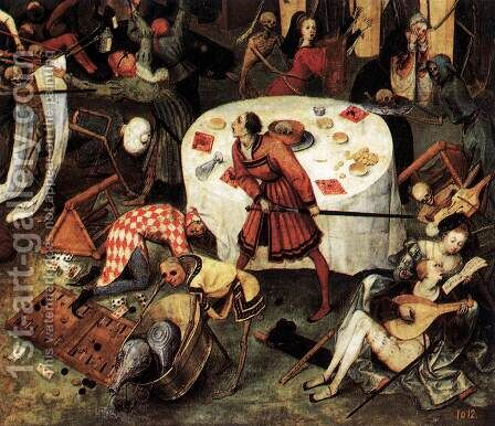 The Triumph of Death (detail) 1562 4 by Jan The Elder Brueghel - Reproduction Oil Painting