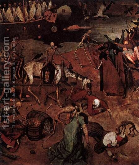 The Triumph of Death (detail) 1562 6 by Jan The Elder Brueghel - Reproduction Oil Painting
