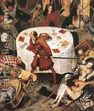The Triumph Of Death (Detail) C1562 by Jan The Elder Brueghel - Reproduction Oil Painting