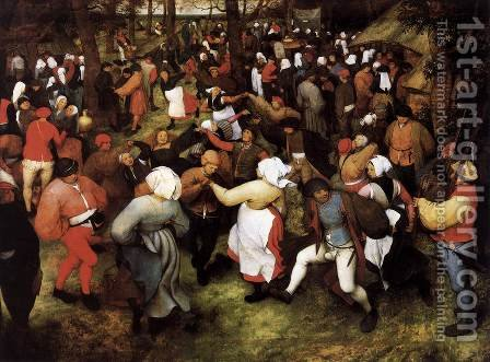 Wedding Dance in the Open Air 1566 by Jan The Elder Brueghel - Reproduction Oil Painting