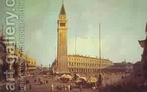 Piazza San Marco Looking South-West 1750s by (Giovanni Antonio Canal) Canaletto - Reproduction Oil Painting