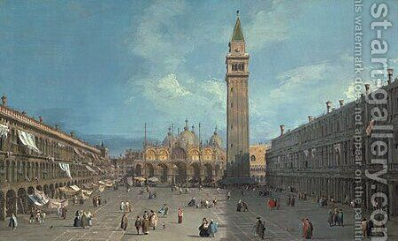 Piazza San Marco possibly late 1720s by (Giovanni Antonio Canal) Canaletto - Reproduction Oil Painting