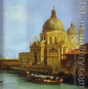 Santa Maria Della Salute Seen From The Grand Canal 1 1730 by (Giovanni Antonio Canal) Canaletto - Reproduction Oil Painting
