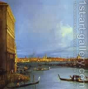 Santa Maria Della Salute Seen From The Grand Canal 1730 by (Giovanni Antonio Canal) Canaletto - Reproduction Oil Painting