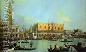 The Bucintoro At The Molo On Ascension Day 1 1732 by (Giovanni Antonio Canal) Canaletto - Reproduction Oil Painting