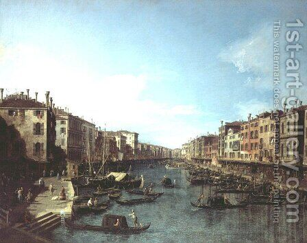The Grand Canal 3 by (Giovanni Antonio Canal) Canaletto - Reproduction Oil Painting