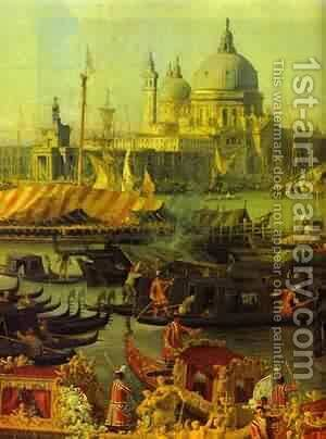 The Reception Of The French Ambassador In Venice Detail 1740 by (Giovanni Antonio Canal) Canaletto - Reproduction Oil Painting
