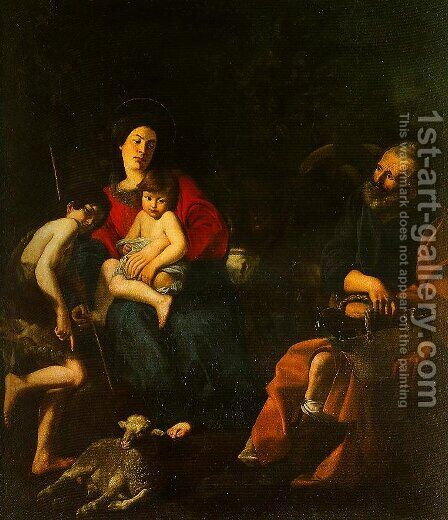The Rest on the Flight into Egypt by Giovanni Battista Caracciolo - Reproduction Oil Painting
