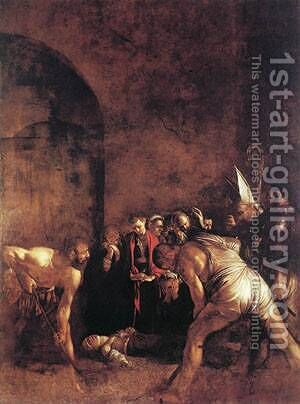 Burial of St Lucy by Caravaggio - Reproduction Oil Painting