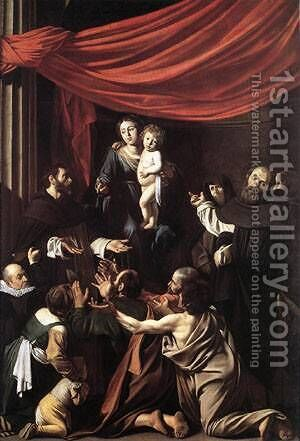 Madonna del Rosario by Caravaggio - Reproduction Oil Painting