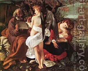 Rest on Flight to Egypt by Caravaggio - Reproduction Oil Painting