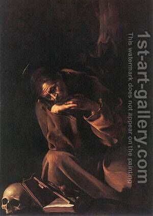 St Francis2 by Caravaggio - Reproduction Oil Painting