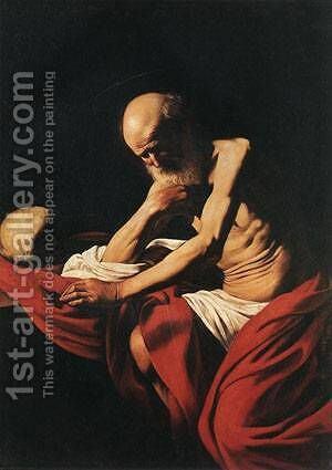 St Jerome1 by Caravaggio - Reproduction Oil Painting