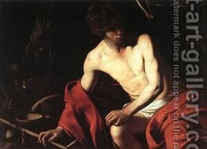 St John the Baptist1 by Caravaggio - Reproduction Oil Painting