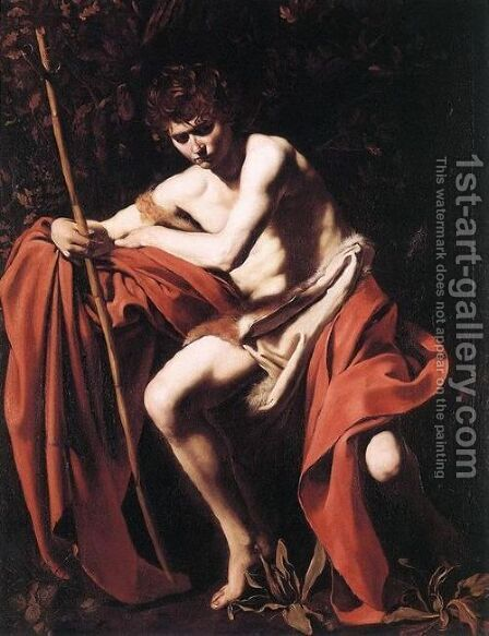 St John the Baptist2 by Caravaggio - Reproduction Oil Painting