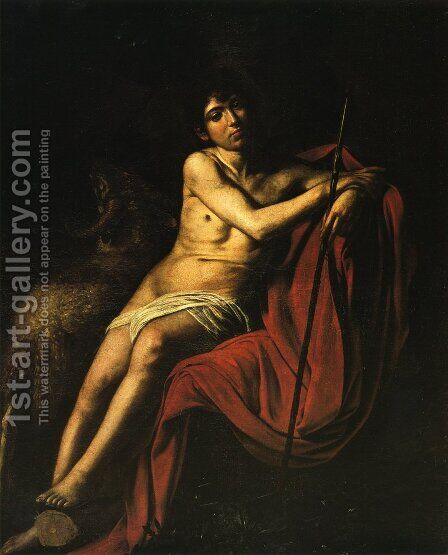 St John the Baptist3 by Caravaggio - Reproduction Oil Painting